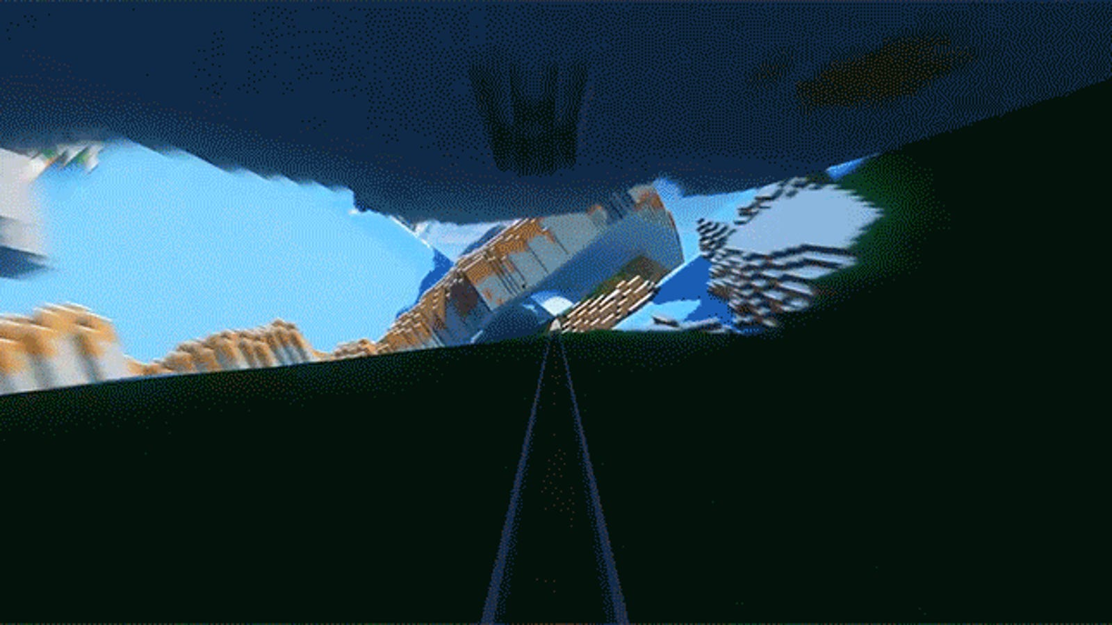 Take a Trippy Ride Down Minecraft's Acid Interstate