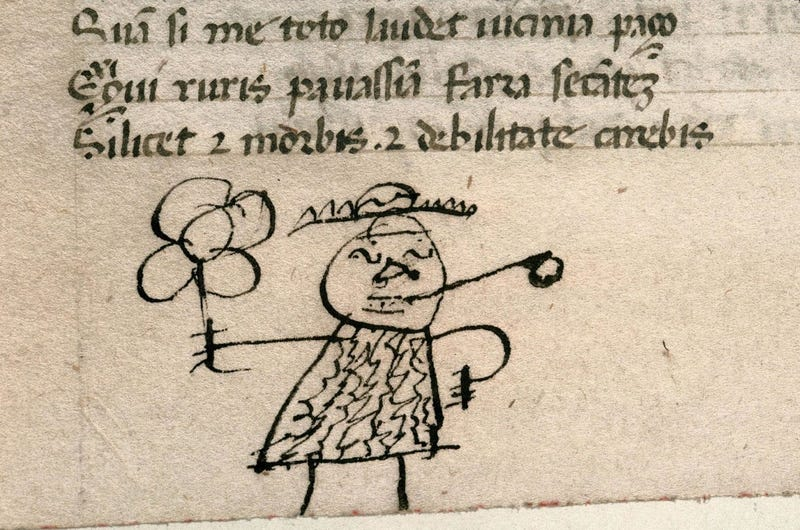 Illustration for article titled Historian Tracks Down The World's Oldest Book Doodles