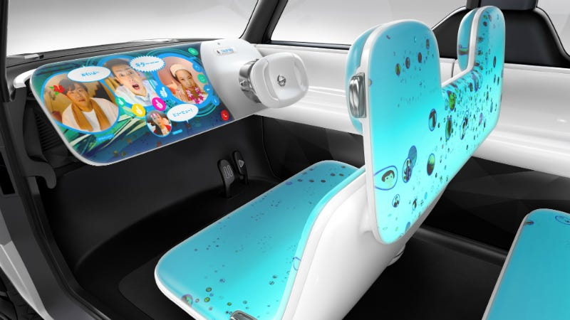Illustration for article titled Just About Every Surface Inside Nissan's Concept Car Is a Screen Display