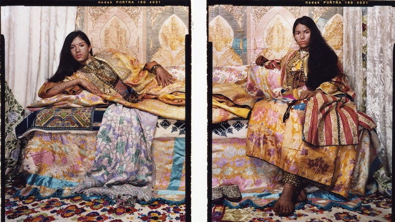 Lalla Essaydi, Harem Revisited #32, 2012-13. Images via Lalla Essaydi and Edwynn Houk Gallery, New York.