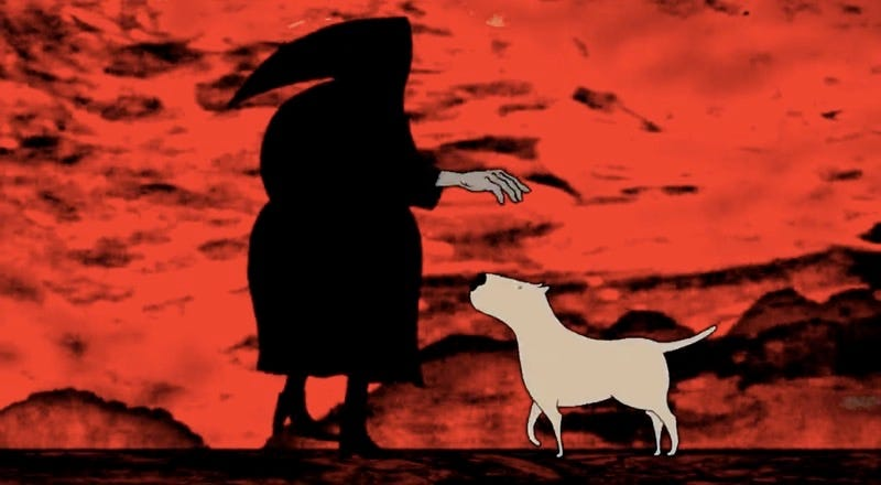 Illustration for article titled A Dog Travels to Space and Returns Quite Transformed in Trippy Animated Short Choban