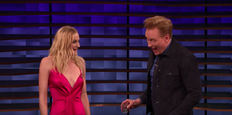 Sophie Turner, Conan O'Brien