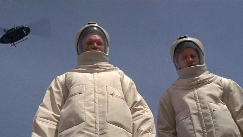 A scene from the 1971 film adaptation of The Andromeda Strain.