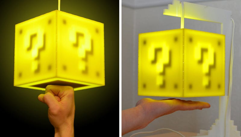 Illustration for article titled Touch Sensitive Coin Block Lamp Will Eventually Pay For Itself, Right?