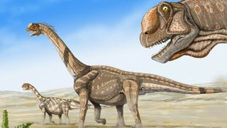 Illustration for article titled Evidence for huge dinosaur migrations that once took place in ancient America