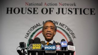 Al Sharpton holds a press conference at the National Action Network's offices in New York City April 8, 2014.Andrew Burton/Getty Images