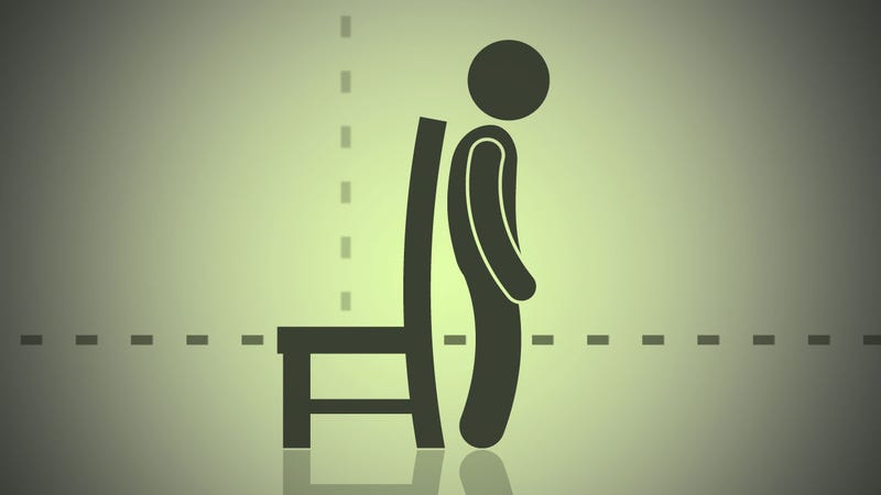 Illustration for article titled Quickly Find Your Chair's Ideal Height by Leveling It with Your Kneecaps