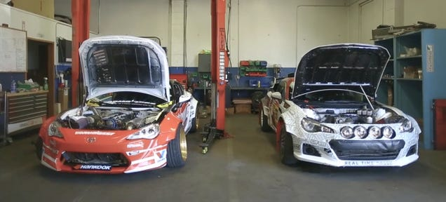 What S The Difference Between A Professional Drift Scion Fr And Rally Subaru Brz It Simple One Does Jumps