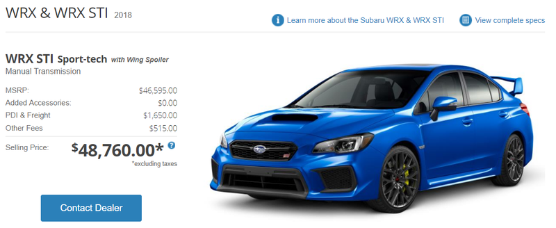 "Illustration for article titled Americans on the Internet: ""Who would pay $50k for a WRX STi?"""