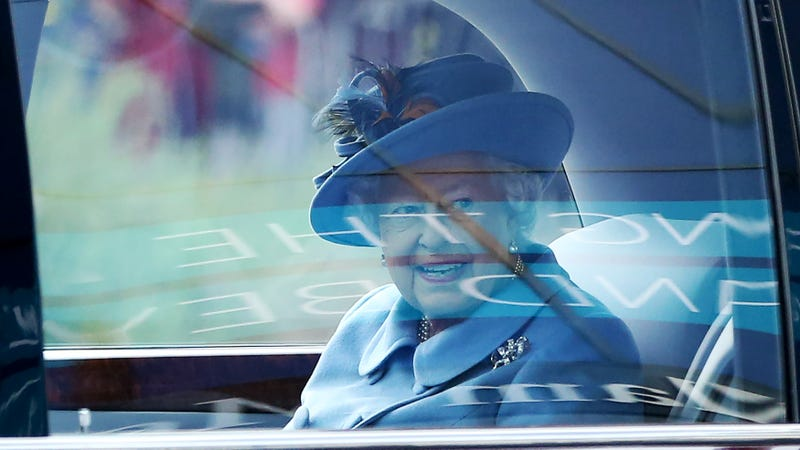 Queen Elizabeth II driving away from her association with you without blinking an eye. Photo: Getty.