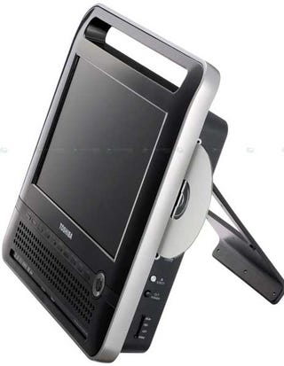 Illustration for article titled Toshiba's Sexy SD-P120DT Portable DVD Player Makes Us Forget There's a Format War On