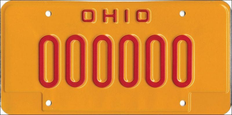 Illustration for article titled Ohio Issues Bright Yellow License Plates To Shame DUI Offenders