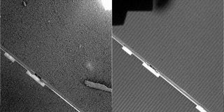 Illustration for article titled NASA Releases Dirty Photos of Spirit Rover Solar Panels