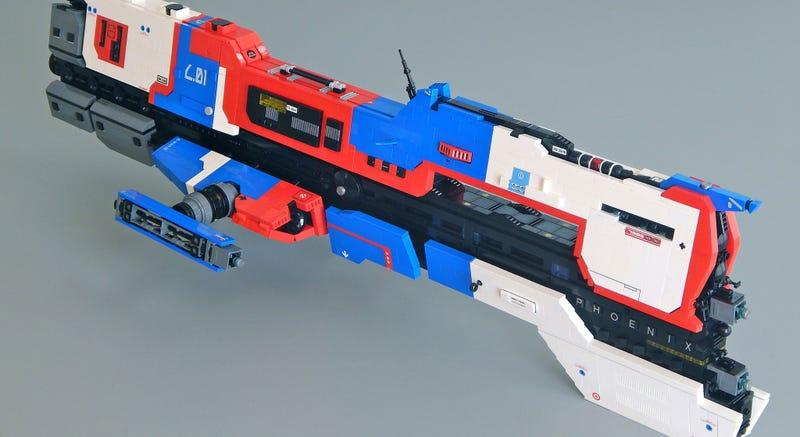 Illustration for article titled LEGO Homeworld Ships Are Works Of Art