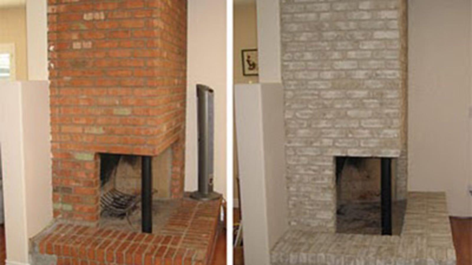 Awe Inspiring Properly Paint A Brick Fireplace Interior Design Ideas Grebswwsoteloinfo
