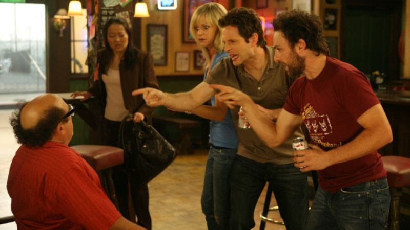 """Illustration for article titled It's Always Sunny In Philadelphia: """"The Gang Gives Frank an Intervention"""""""