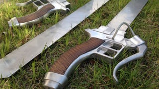 Illustration for article titled Fan Builds Real, Working Attack On Titan Swords