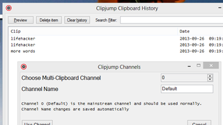 Illustration for article titled Clipjump Manages Multiple Channels of Clipboard History