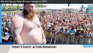 Illustration for article titled ESPN Hosts Interviewed a Very Stoned, Psychedelic Action Bronson