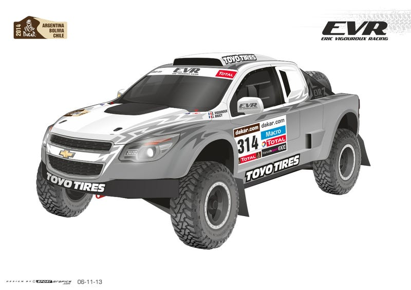 Illustration for article titled Eric Vigouroux And 'Ballistic' BJ Baldwin With New EVR Proto VX-101 Rally Raid Concept In Le Dakar 2014
