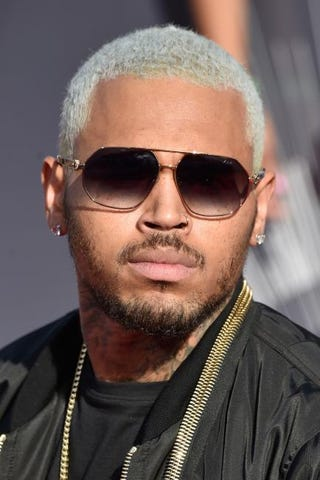 Chris Brown attends the 2014 MTV Video Music Awards at The Forum on Aug. 24, 2014, in Inglewood, Calif.Frazer Harrison/Getty Images
