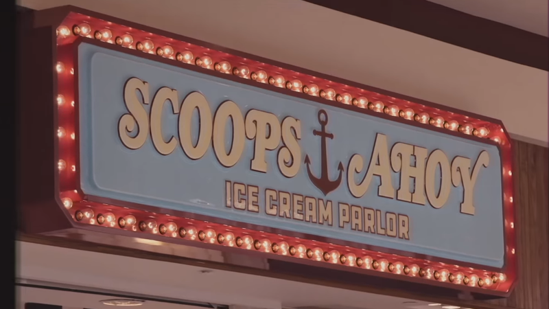 Hawkins's newest ice cream joint.