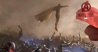 Illustration for article titled Primera imagen de La Visión en un espectacular cartel de Los Vengadores
