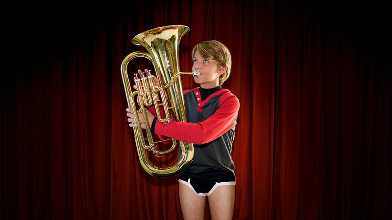 Illustration for article titled Shameful Bullying: Cruel Kids At School Are Laughing At This Boy Just Because His Name Is Boner Von Rimjob And His Pants Fell Down During His Solo Tuba Recital