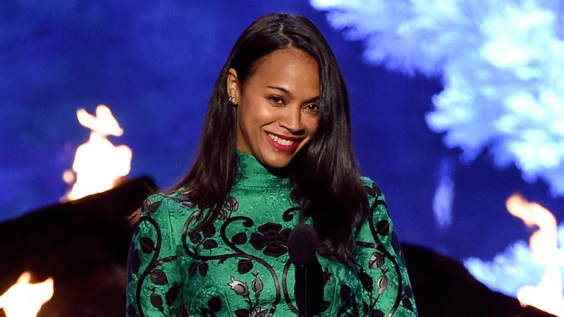 Illustration for article titled Zoe Saldana Recalls Being Hired for How She Held a Gun in Panties