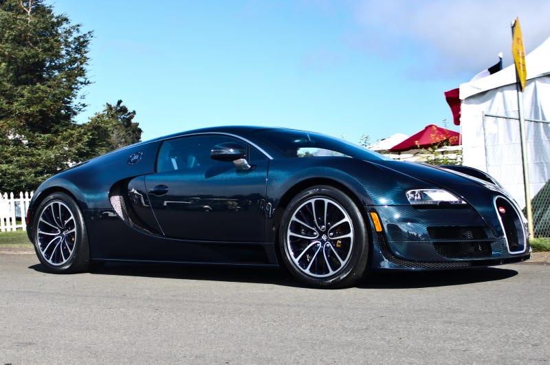 Bugatti Veyron Super Sport Blue Carbon Fiber Nice