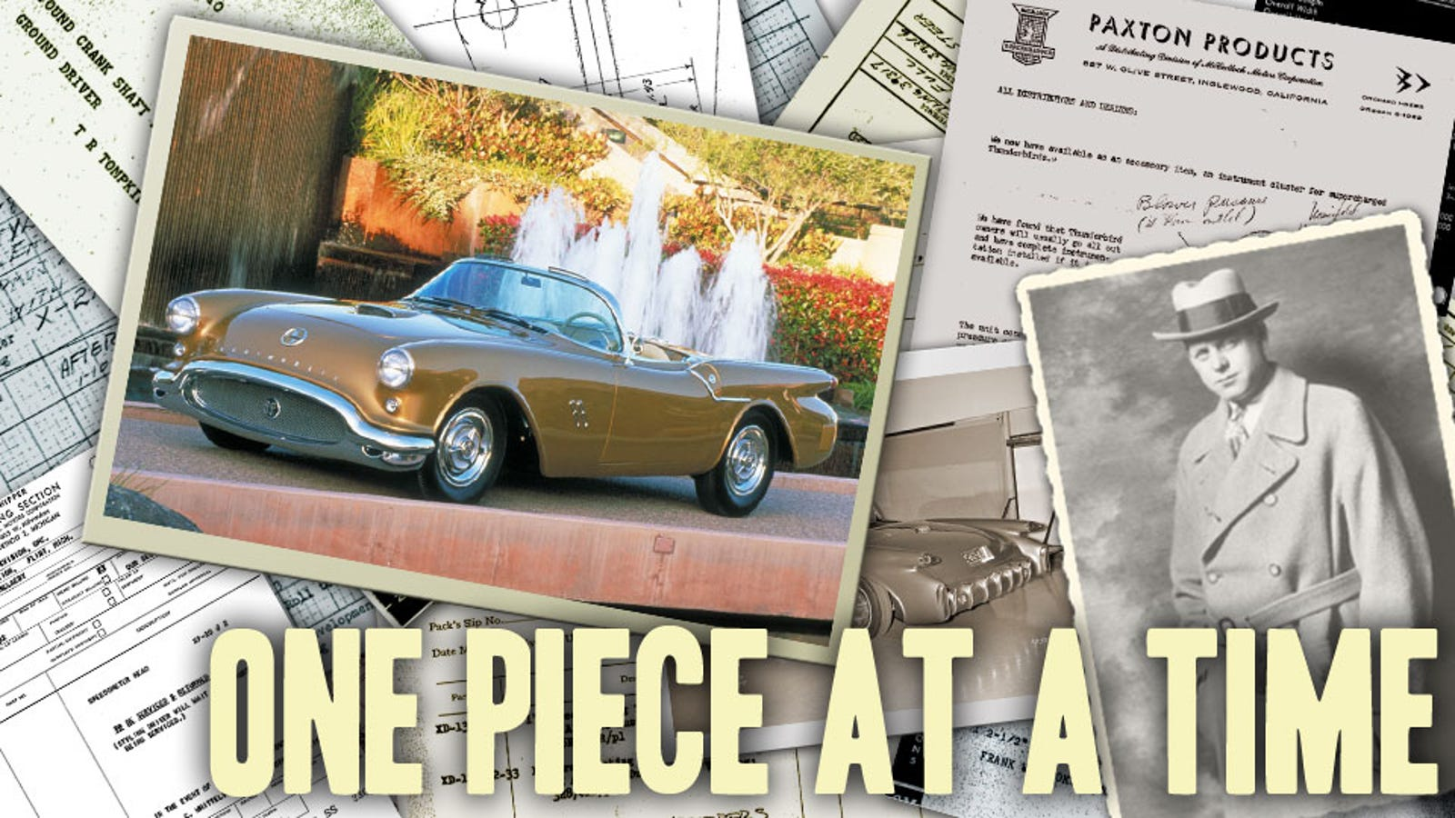 How The Worlds Most Famous Auto Designer Mailed A Concept Car Out 1950s American Cars Oldsmobile Of Gm Piece By