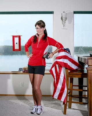 "Illustration for article titled Sarah Palin Breaks ""Flag Code"" In Runner's World Magazine"