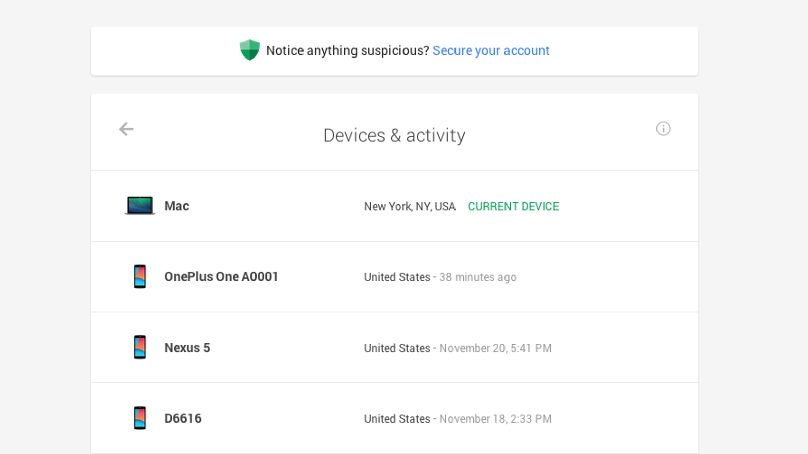 Google's New Dashboard Shows You All the Devices Using Your Account