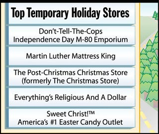Illustration for article titled Top Temporary Holiday Stores
