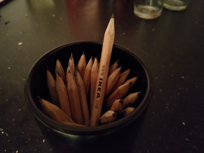 missus went to ikea... she didnt buy anything... but i think we have all their pencils now
