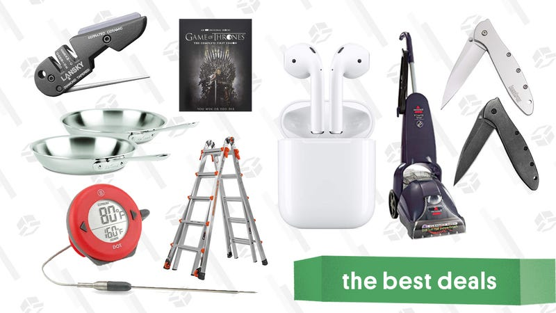 Illustration for article titled Thursday's Best Deals: All-Clad Pans, Airpods, Anker Speakers, and More
