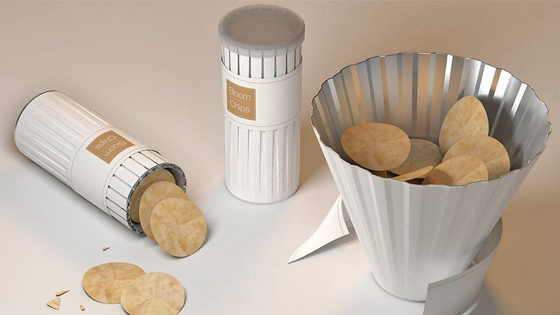 Illustration for article titled Now This Is How You (Hypothetically) Redesign the Pringles Can for the 21st Century