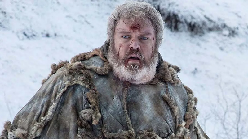 Hodor dresses for the weather.