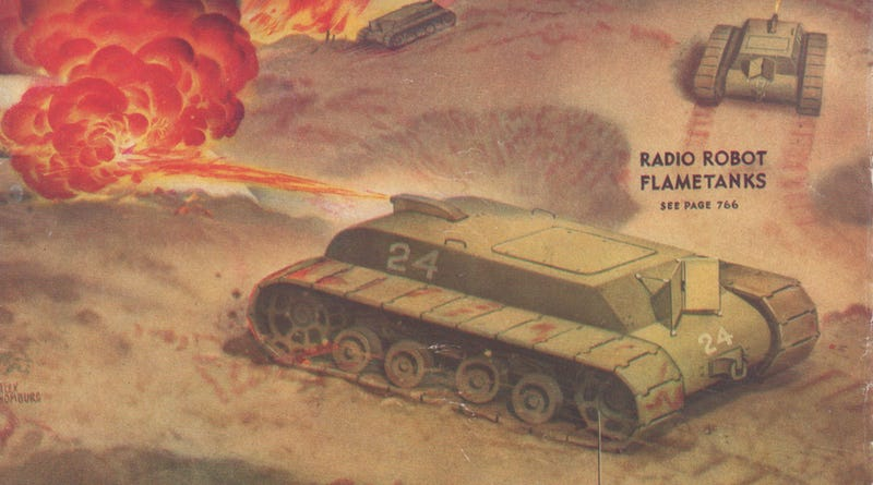 Illustration for article titled The Robot Tanks of WWII, Both Real and Imagined