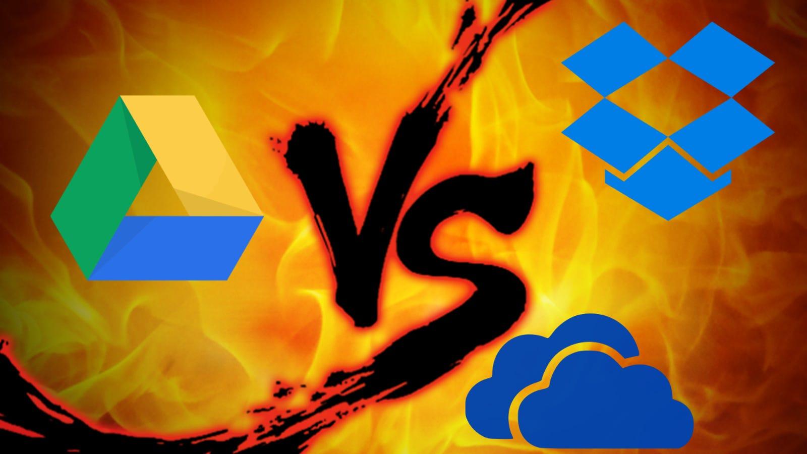 File Syncing Showdown: Google Drive vs  Dropbox vs  OneDrive