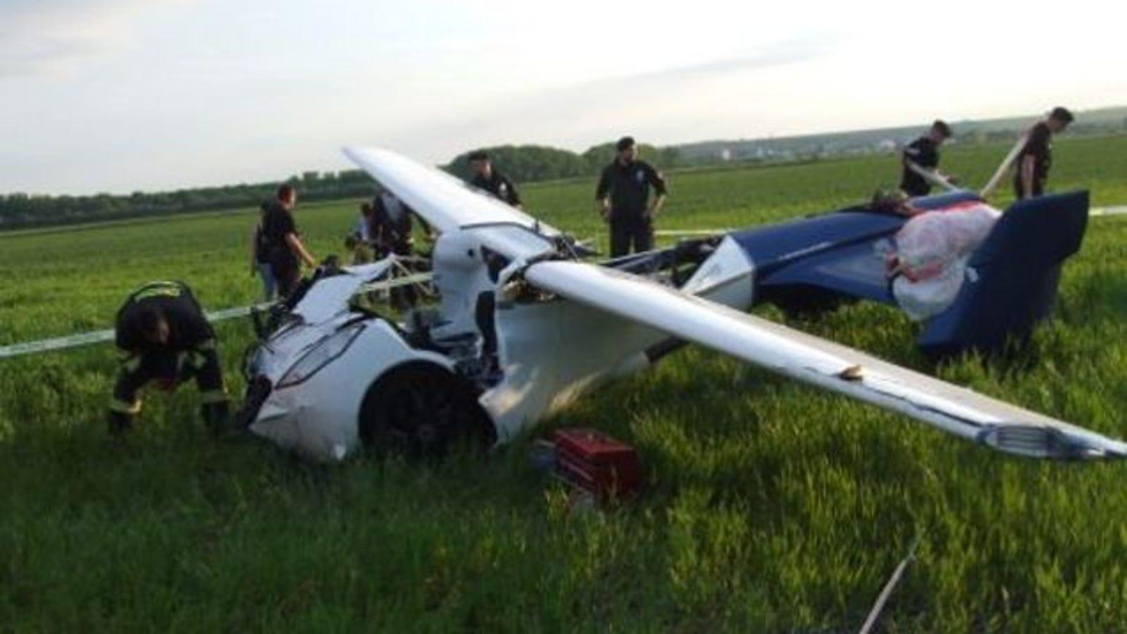El coche volador Aeromobil se estrella durante un vuelo de prueba