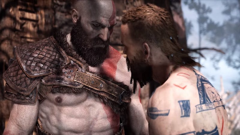 Illustration for article titled God Of War declares its cinematic ambitions with an incredible super-powered fistfight
