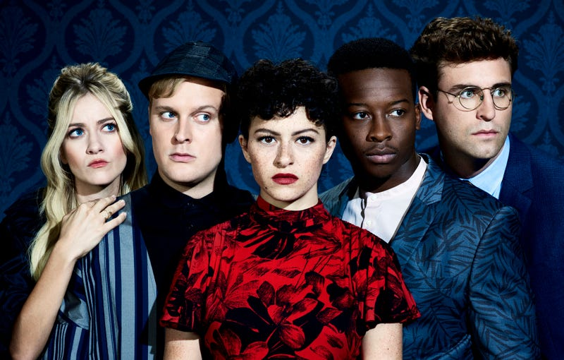 Meredith Hagner, John Early, Alia Shawkat, Brandon Micheal Hall, and John Reynolds star in Search Party (Photo: Turner Networks)