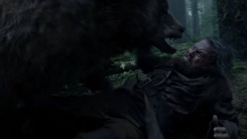 A regular old mauling, from The Revenant