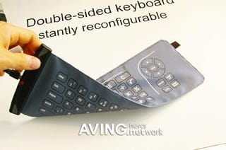Illustration for article titled Eleksen's Double-sided Keyboard Gives Your UMPC Media Controls