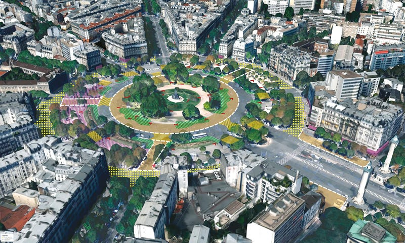 Place de la Nation is among the roundabouts getting makeovers