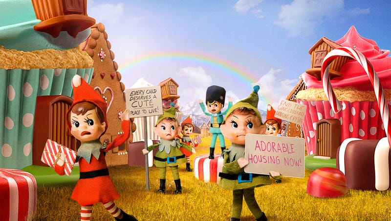 Illustration for article titled Activists Petition Cupcake Kingdom To Address Adorable Housing Crisis