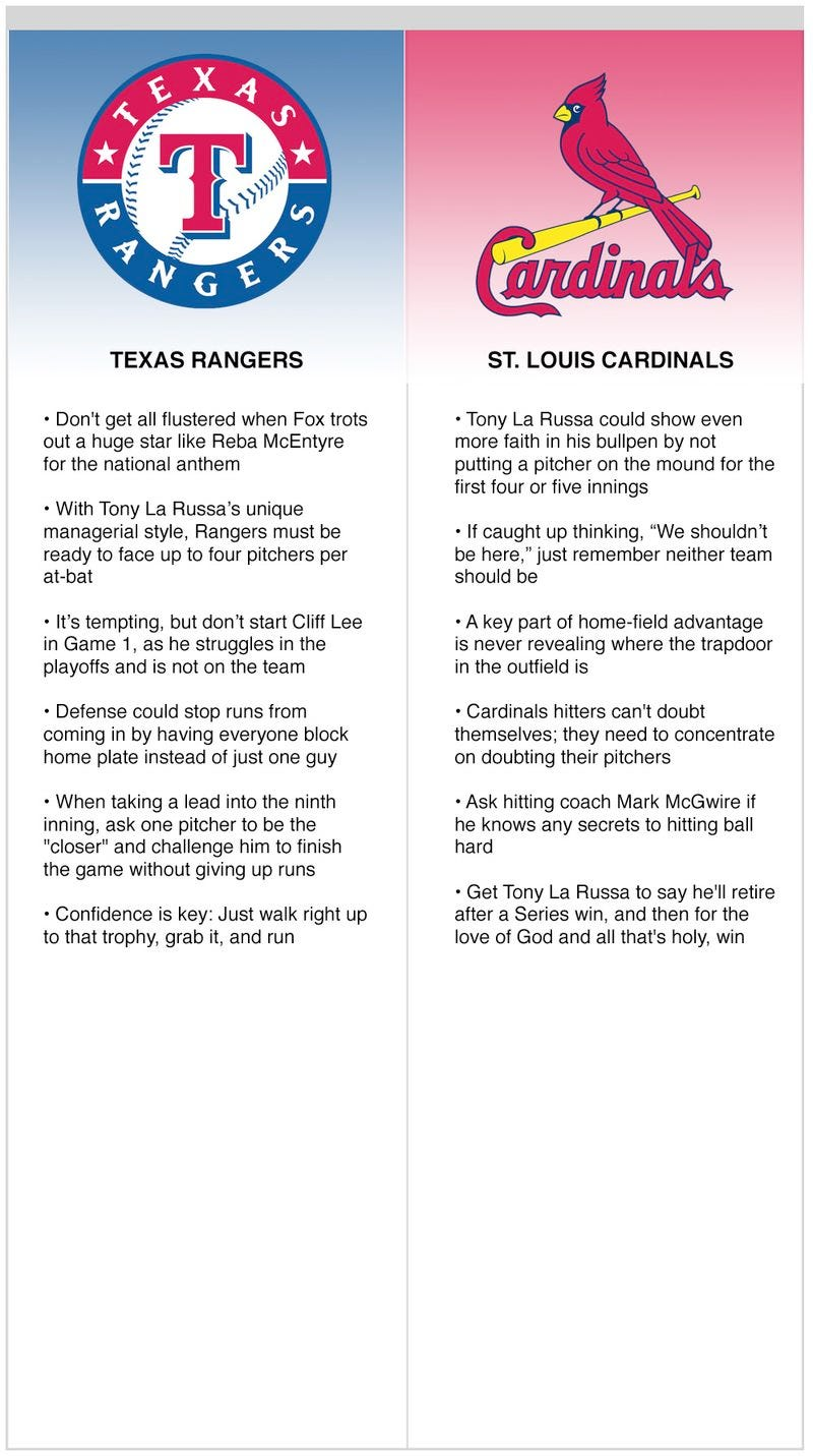 Illustration for article titled Rangers vs. Cardinals