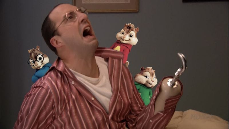 Illustration for article titled Tony Hale to menace musical rodents in Alvin And The Chipmunks: Road Chip