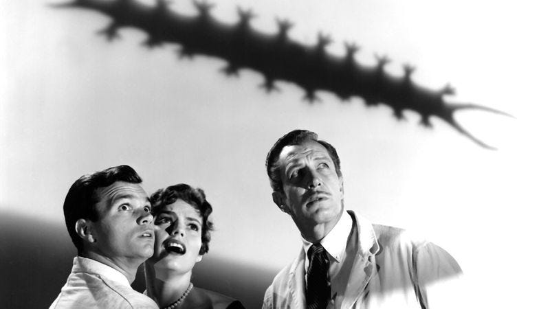 A scene from William Castle's The Tingler